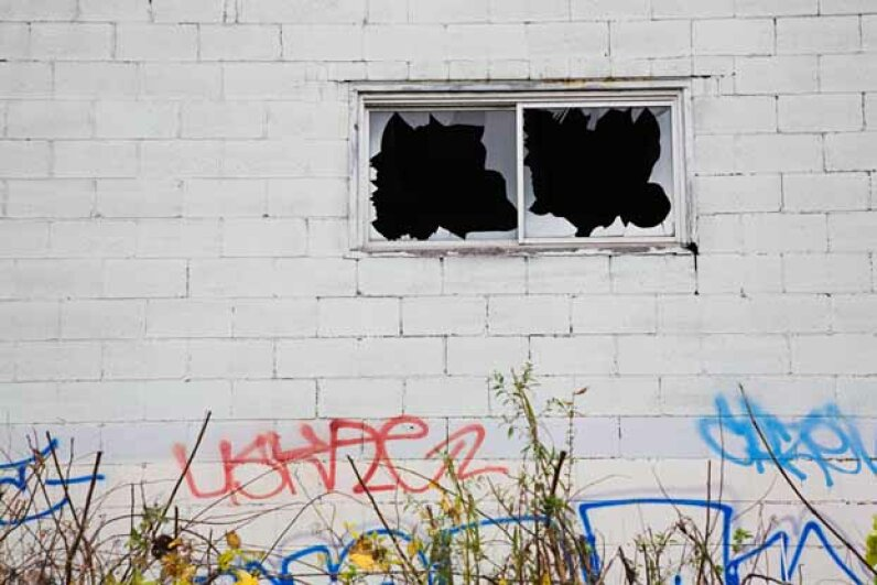 Researchers have found a link between the prevalence of graffiti and an increase in antisocial behavior. Image Source/Getty Images
