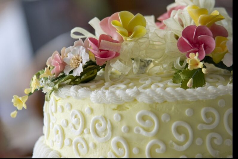 Serve year-old cake to celebrate a christening? You bet.  © JeffMcSweeney/iStockphoto.com
