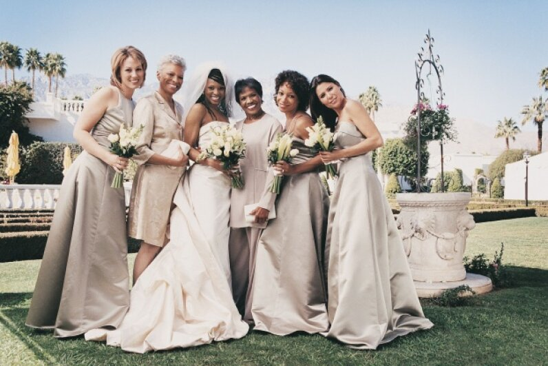 Whether you love or hate your bridesmaid's dress, you probably don't spend much time thinking about keeping evil spirits away from the bride.  ©Digital Vision/Thinkstock