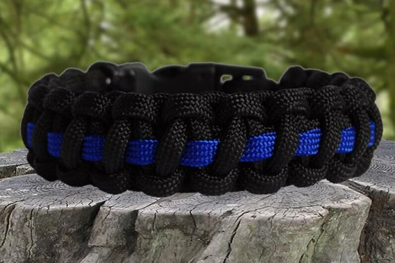 "The survival bracelet is generally made from woven paracord and can be 8 to 20 feet long. Use a string from its ""guts"" to make a firestarter. Survival Supplies"
