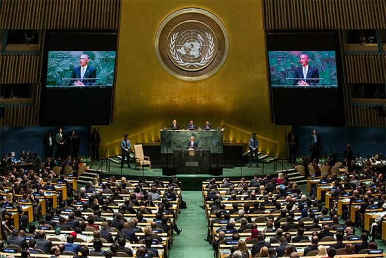 U.S. President Barack Obama speaks at the 69th United Nations (U.N.) General Assembly at U.N. headquarters in New York City. Foreigners working for the U.N. in the U.S. do not have to pay U.S. income tax. Andrew Burton/Getty Images