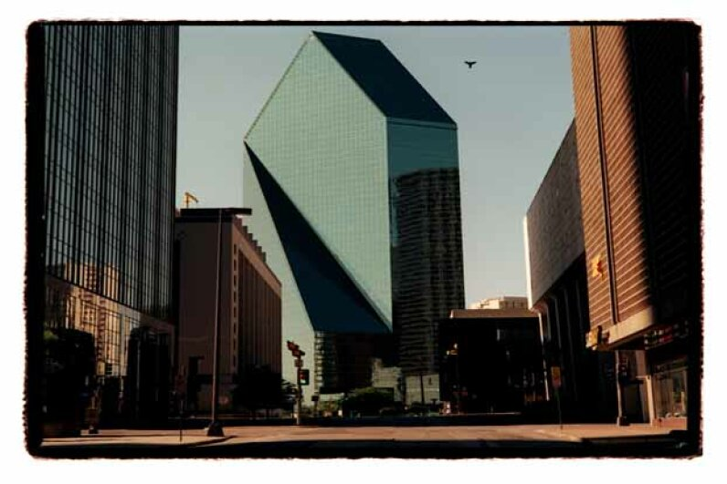 The Fountain Place building in downtown Dallas. The 60-story glass office tower is where Hosam Maher Husein Smadi was arrested after he placed an inert car bomb at the location. Allison V. Smith/Dallas Morning News/Corbis