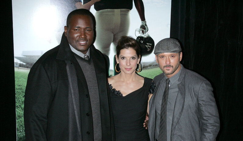 Quinton Aaron, Sandra Bullock, Tim McGraw, The Blind Side