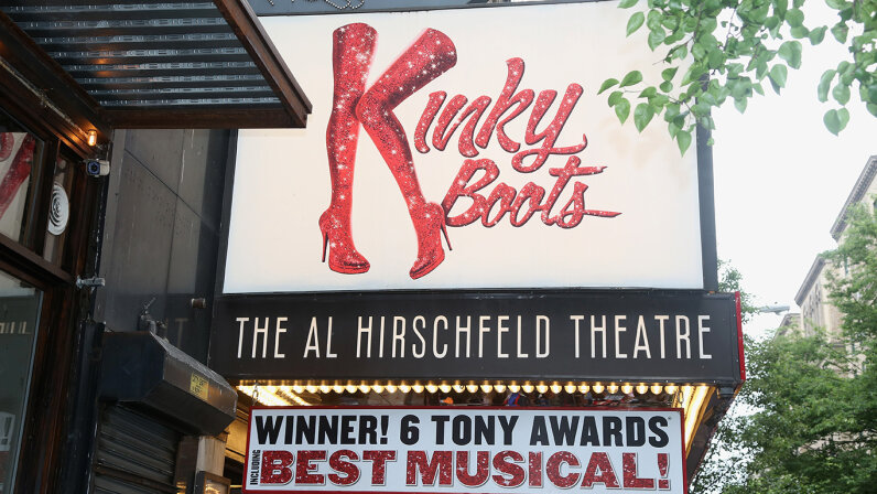 """Marquee for """"Kinky Boots"""""""