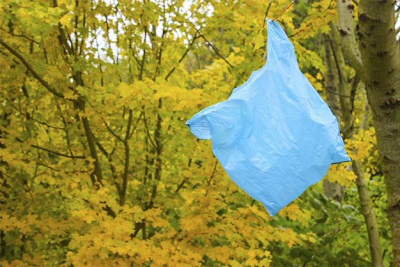 Discarded plastic bags aren't normally recycled. But they can be reused. Photobos/iStock/Thinkstock