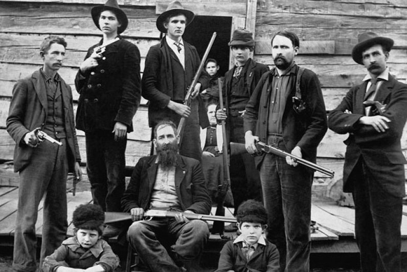 Matoaka hopes to connect to the Hatfield-McCoy Trail System, named for the famous feuding family from the area. The Hatfields are pictured above. © CORBIS