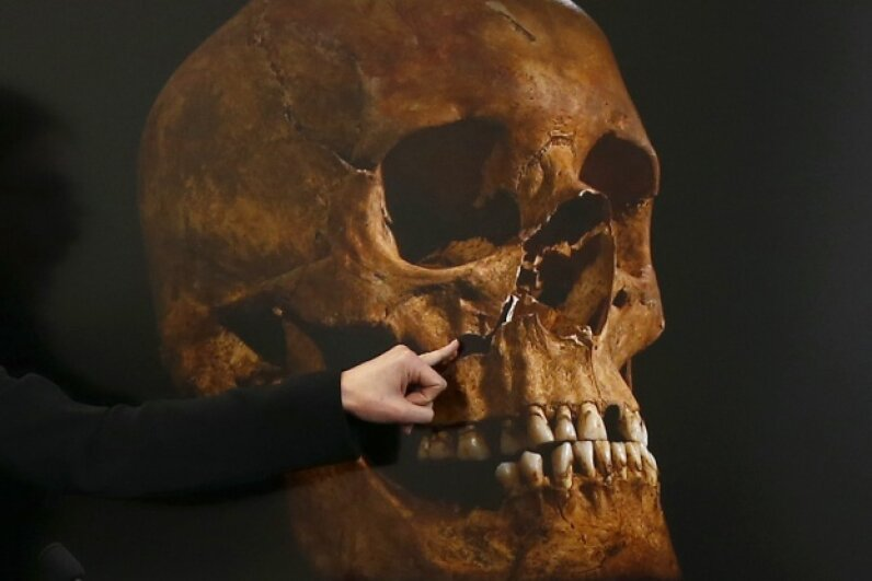 After announcing the discovery of King Richard III's remains in September 2012, archaeologists were able to confirm in 2013 that they had indeed unearthed the old boy. © Darren Staples/Reuters/Corbis