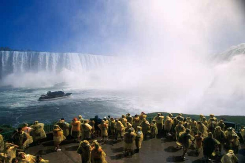 Join the yellow-coated herds at the Maid of the Mist, Niagara Falls. Peter Mintz/First Light/Getty Images