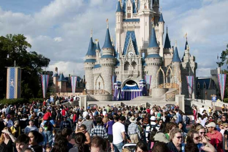 Just you and a few thousand of your closest friends at Walt Disney World, Orlando. Peter Ptschelinzew/Lonely Planet Images/Getty Images