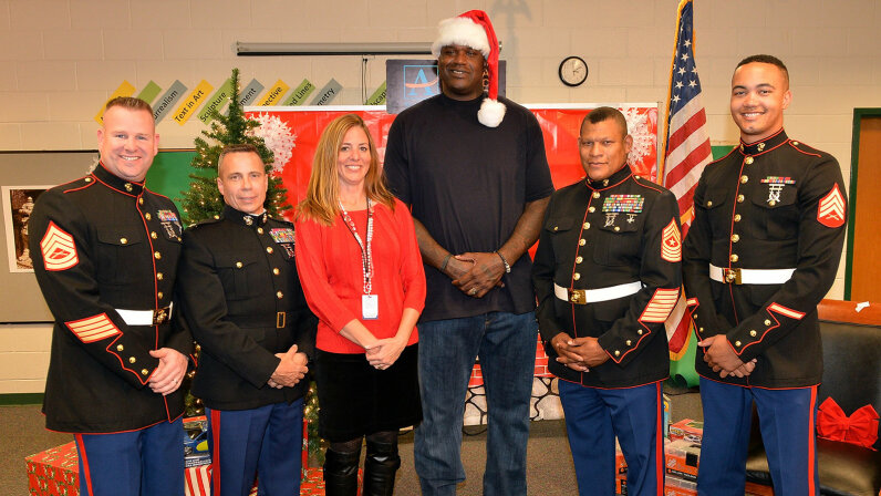 Shaquille O'Neal, U.S. Marine Corp., Toys for Tots