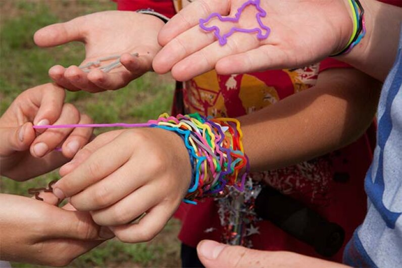 Some schools actually banned Silly Bandz in 2010 because they caused conflict in classrooms. © Bob Daemmrich/Corbis