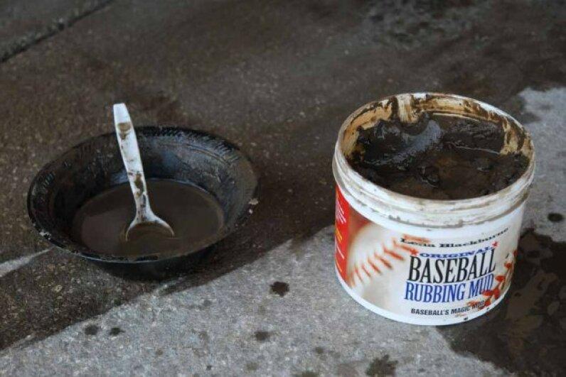 Lena Blackburne's Baseball Rubbing Mud: balm to ball players everywhere.  Photo by Mark Cunningham/MLB Photos via Getty Images
