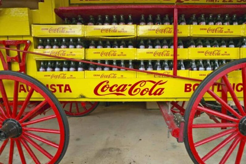 The Coca-Cola formula has been around even longer than this antique wagon in central Georgia. Photo by Visions of America/UIG via Getty Images
