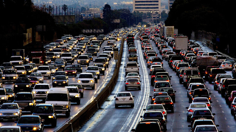 Los Angeles traffic 405 freeway