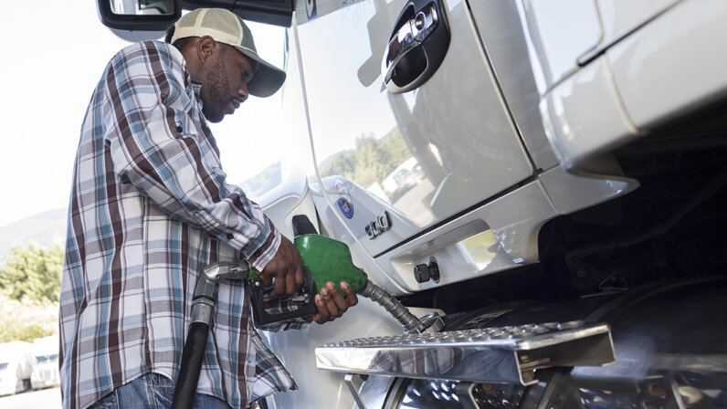 You might assume higher fuel taxes would cut into the profits of the trucking industry. But taking a bigger-picture approach helps explain why industry associations actually advocate for a tax increase. Jetta Productions/Getty Images