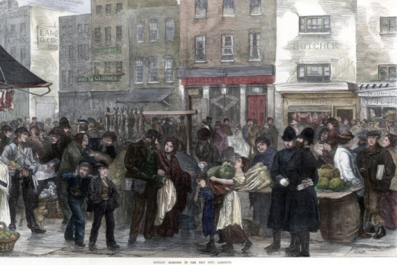 Victorian Londoners thought their crowded city was bursting with various foul miasmas. © The Print Collector/Corbis