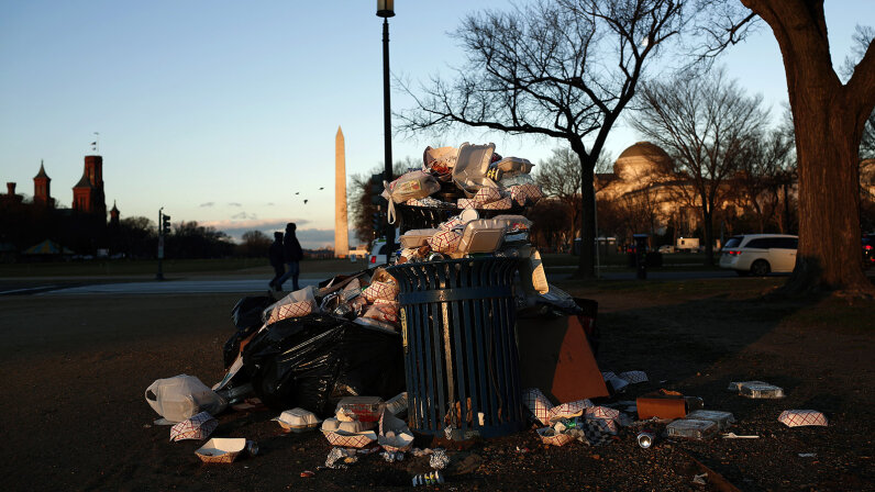 D.C. with trash