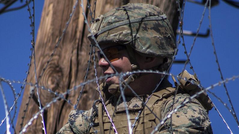 U.S. troop at Mexican border