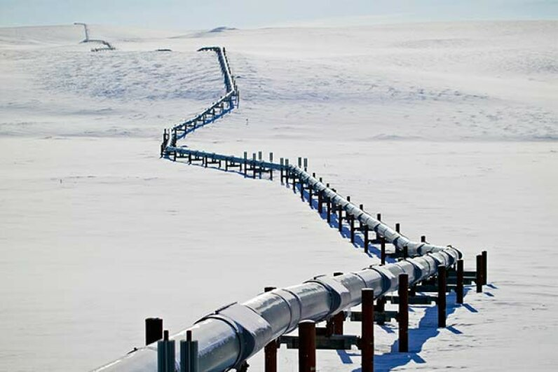 BP is experimenting with drones equipped with thermal cameras that can detect leaks and weak spots along the trans-Alaska pipeline, for a fraction of the cost of a helicopter. Rolf Hicker/All Canada Photos/Getty Images