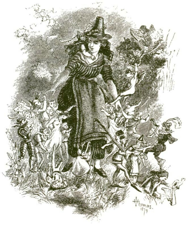 Some writers claim that traditional beliefs about fairies anticipated today's UFO encounters. Shu Rhys, a 19th-century Welsh woman, reputedly went away with fairies and never returned. Fortean Picture Library