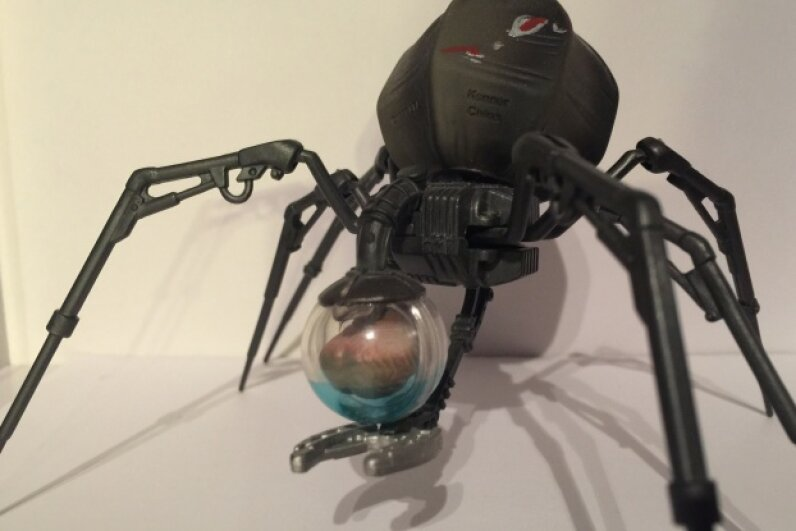 This toy version of a BT-16 shows the B'omarr monk brain it carries around. Image by HowStuffWorks