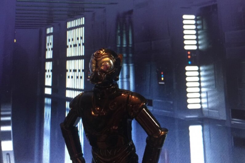 """The RA-7 droid isn't as well-known as some others in the """"Star Wars"""" universe, but there have been action figure versions just the same. Image by HowStuffWorks"""