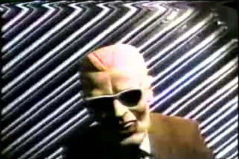 In 1989, an unknown hacker in a Max Headroom mask interrupted transmission on two Chicago TV stations and broadcast some cryptic gibberish. Public Domain