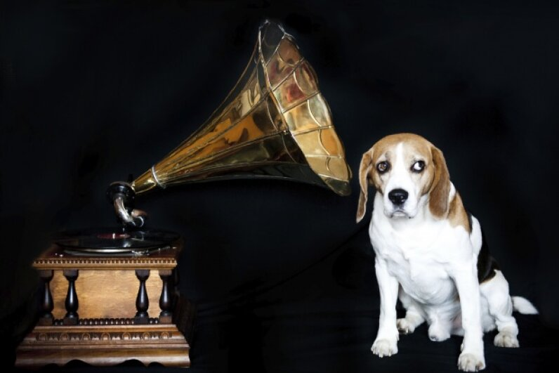 As far as we know, Edison did not dabble in phonographs for dogs. Dolls, yes. Dogs, no.  pojoslaw/iStock/Thinkstock