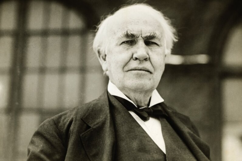 If you take the thousands of patents Edison was issued, the guy (and his team at Menlo Park) averaged a patent every two weeks during his working life. © Underwood & Underwood/Underwood & Underwood/Corbis