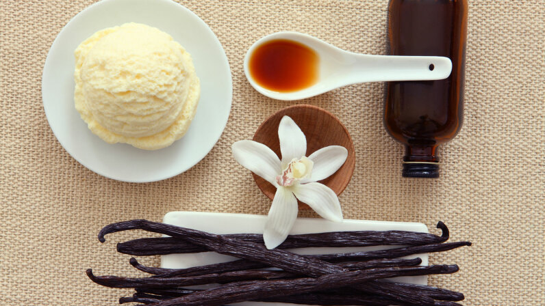 vanilla extract, ice cream pod