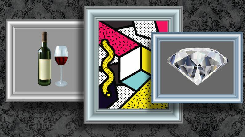Art, wine diamonds