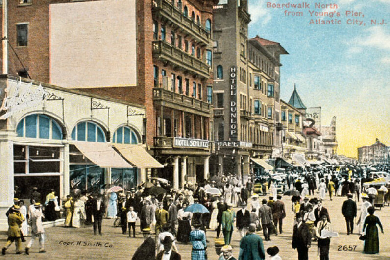 Atlantic City, with its boardwalk, entertainment and casinos, has been a popular travel destination for decades. ©SuperStock/SuperStock/Corbis
