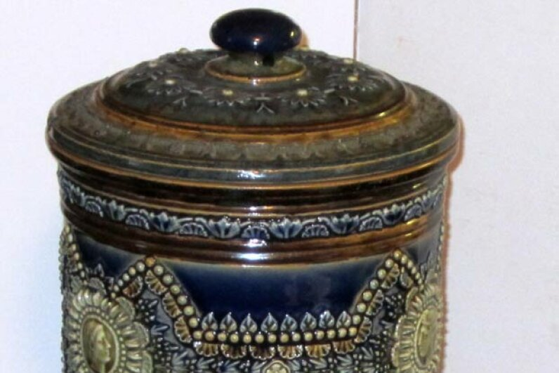 This Doulton stoneware water filter, ca. 1880, was created in response to public awareness of contaminated drinking water in Britain. Today, the Royal Doulton company is better known for its fine china but still produces ceramic and carbon filters. Doulton USA