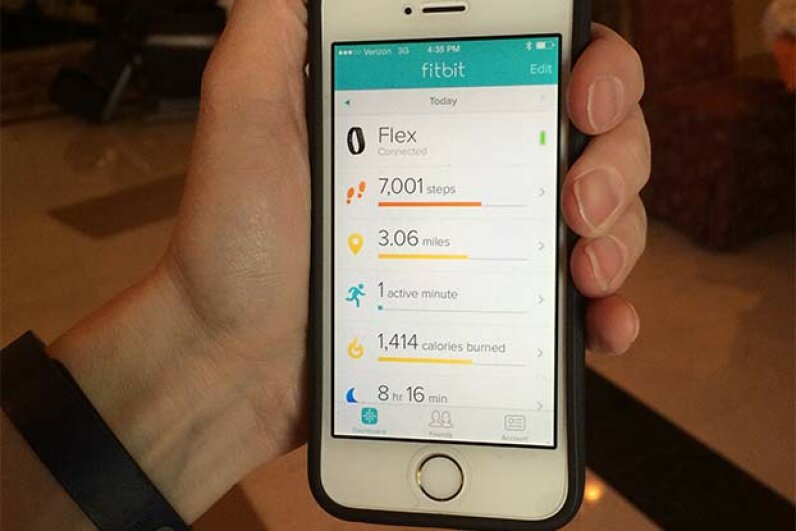 Thanks to Fitbit, this user can check his steps taken and calories burned and improve on those numbers. Bruce Gifford/Getty Images
