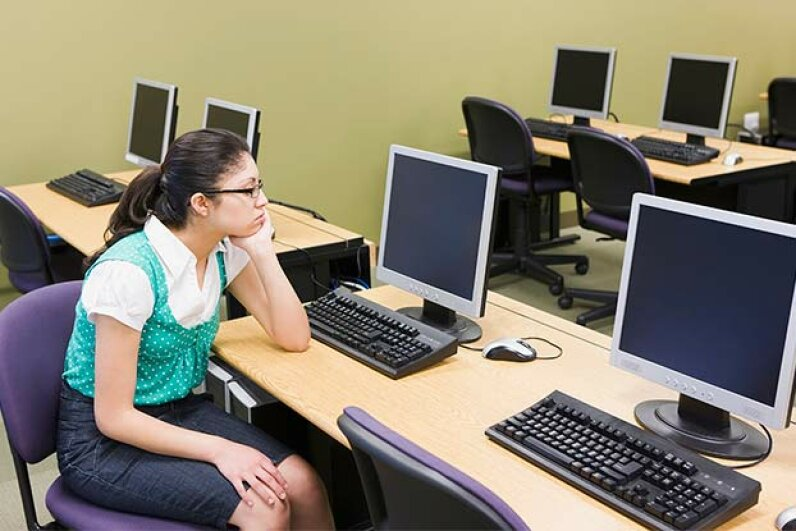 A 'posture reminder' via a gadget would be a big help for those of us who slump at the computer. Steve Hix/Fuse/Thinkstock