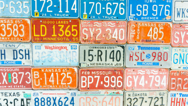 License plate collage