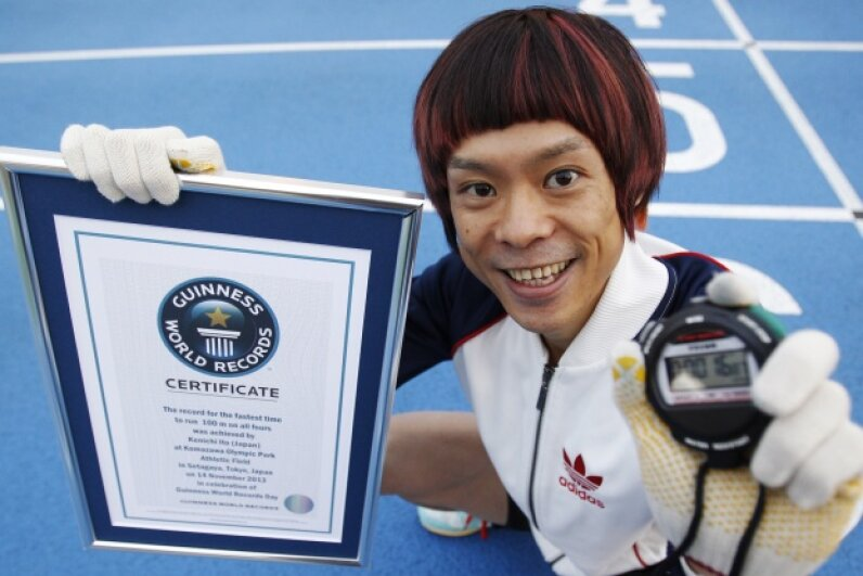 Say hello to the world's fastest man on four legs, a title that Kenichi Ito of Japan attained on Nov. 14, 2013. Ito looks to the African patas monkey for inspiration on his running style. © Yuya Shino/Reuters/Corbis
