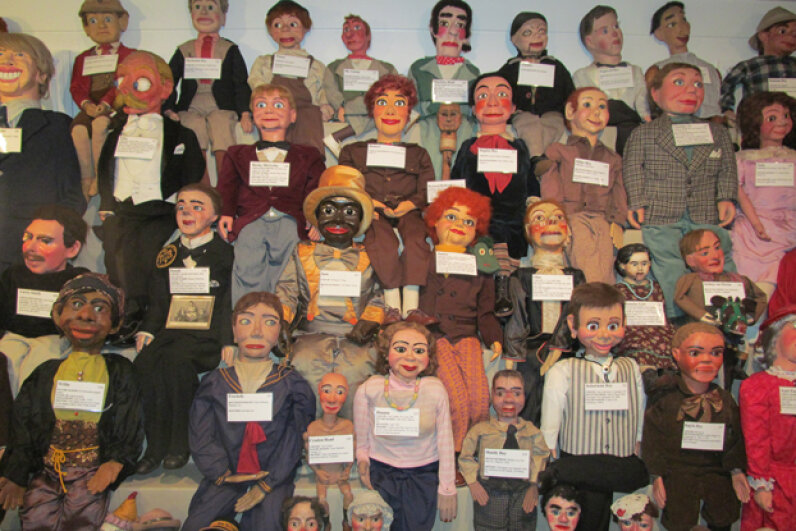 Some of the many ventriloquist figures at the Vent Haven Museum, the only museum of its kind in the world. Vent Haven Museum