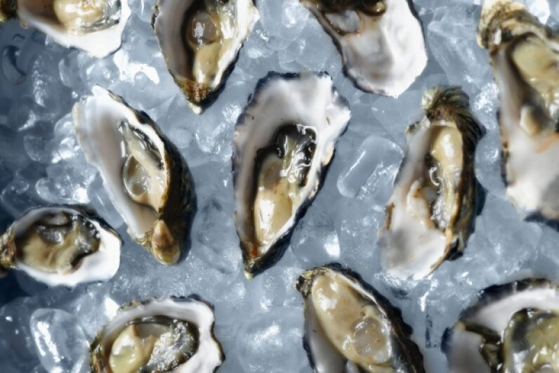While oyster stuffing isn't that uncommon, people that don't grow up eating it as part of family feasts are often a little surprised at the idea. © Corbis