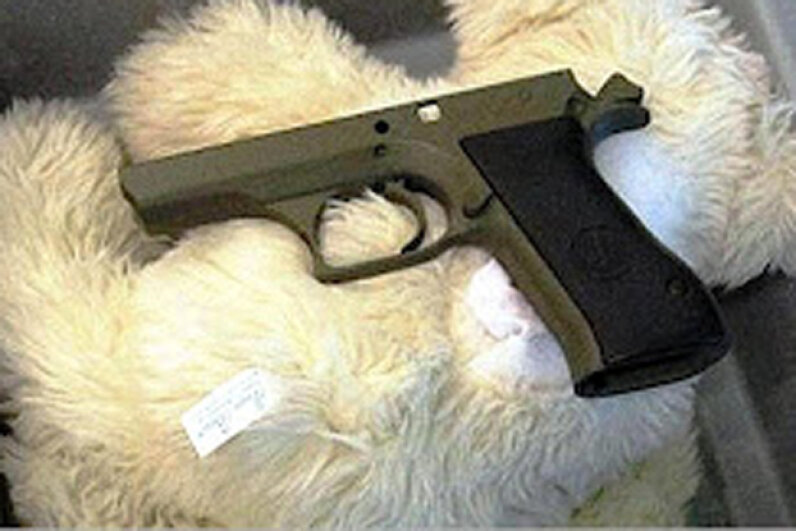 This dad thought it would be a clever move to hide his gun in his child's stuffed bear. Transportation Security Agency
