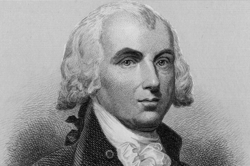 The idea of making members of Congress wait a term before collecting a raise took more than 203 years to become an amendment after first being proposed by James Madison (above). Hulton Archive/Getty Images