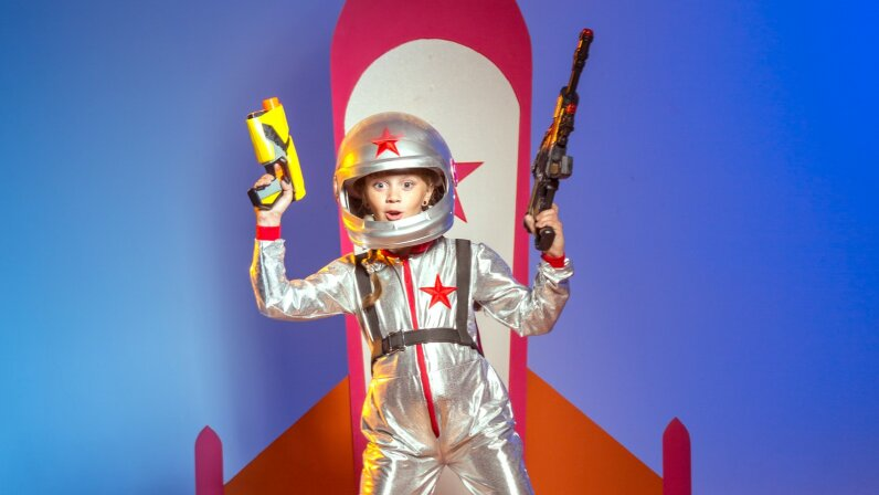 Space kid with a gun