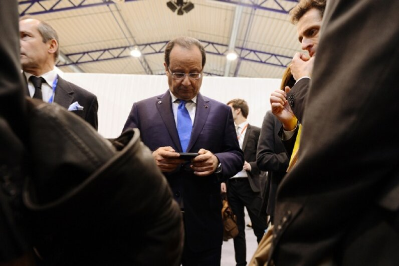 French president Francois Hollande probably had great WiFi access during a 2013 EU summit in Lithuania. ALAIN JOCARD/AFP/Getty Images