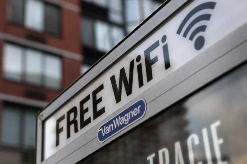 Why use up all of that precious monthly data when you could just hop a bus or head to a national park for some free WiFi? John Moore/Getty Images