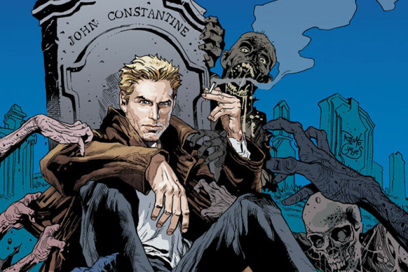 "Do not date or befriend this man. Further study: Flip through ""Hellblazer"" or check out a dark-haired alternate reality John Constantine in the 2005 Keanu Reeves film. Image courtesy DC Entertainment"