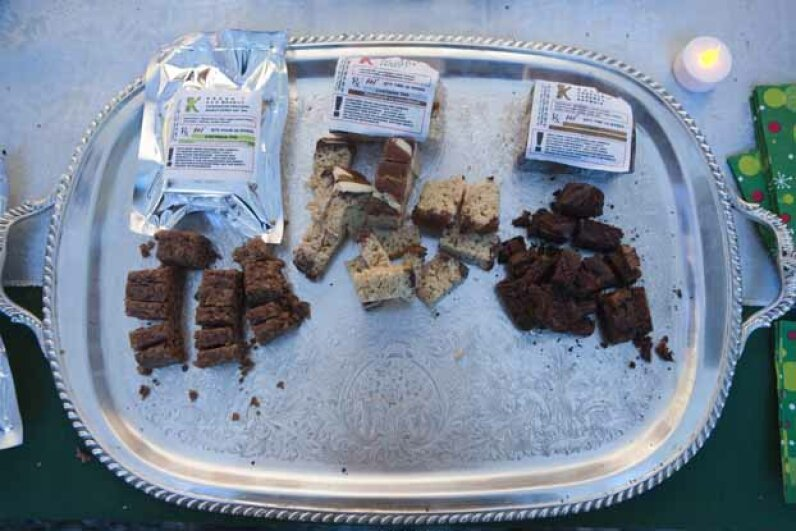 """Samples of brownies with marijuana await participants on Dec. 11, 2010 at the 7th annual Emerauld Cup. The Emrauld Cup has been described as the """"Oscars of the marijuana world."""" Gilles Mingasson/Getty Images"""
