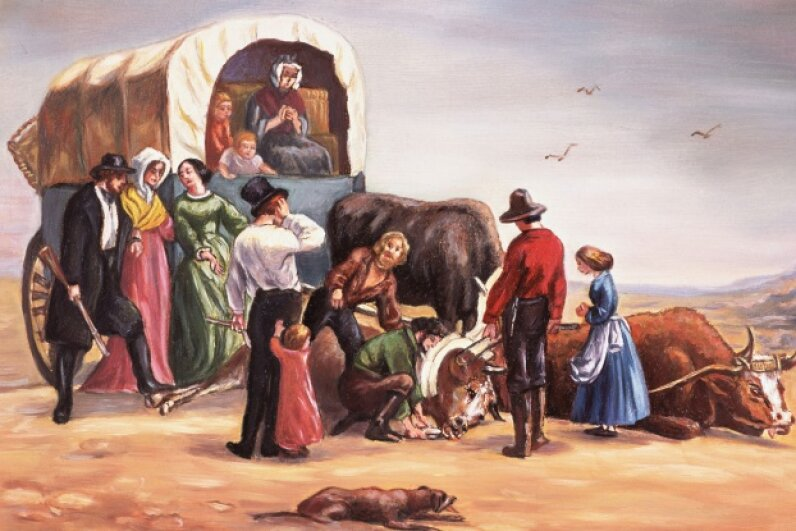 The Donner party was plagued by problems as they made their way west. © Bettmann/CORBIS