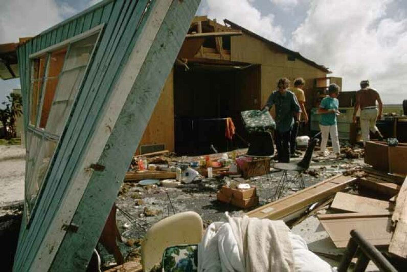 hurricane Camille, salvage home