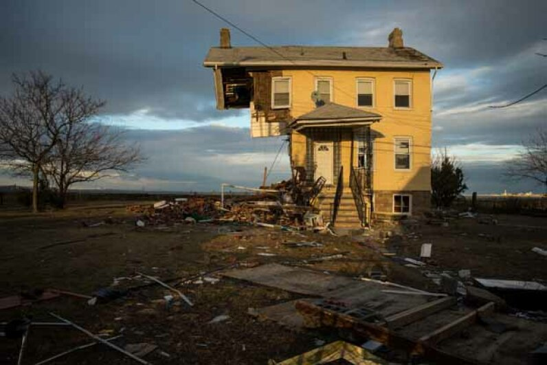 hurricane sandy, damaged home
