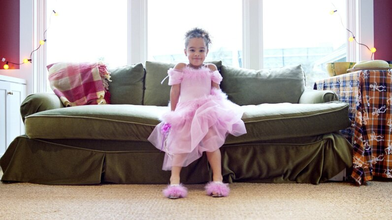 Little girl in ballerina costume